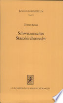 Schweizerisches Staatskirchenrecht