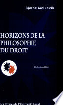 illustration Horizons de la philosophie du droit