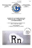 Radon et gaz rares dans les sciences de la terre et de l environnement