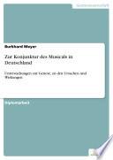 Zur Konjunktur des Musicals in Deutschland