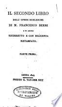 Collezione di Poeti Burleschi Antichi e Moderni