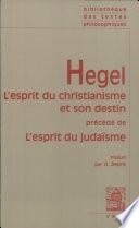 illustration du livre L'esprit du christianisme et son destin