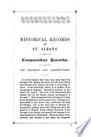 The Corporation Records of St. Albans