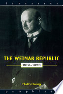 The Weimar Republic 1919 1933