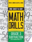 One Sheet A Day Math Drills book