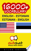 16000+ English - Estonian Estonian - English Vocabulary