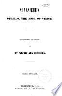 Shakspere's Othello, the Moor of Venice