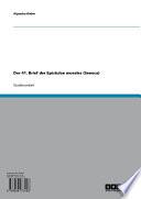 Der 41. Brief der Epistulae morales (Seneca)
