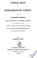 Journal belge des connaissances utiles