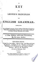 A key to Lennie s Principles of English grammar