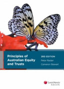 Principles of Australian Equity and Trusts  3rd Edition