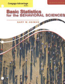 Bndl  Adv Bk  Basic Statistics for the Behavioral Sciences