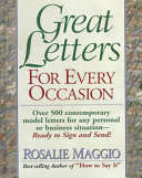Great Letters for Every Occasion Book PDF