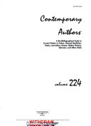Contemporary Authors Approximately 300 Modern Writers In This Volume Of