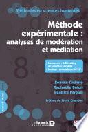 M  thode exp  rimentale   analyses de mod  ration et m  diation