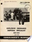 Explosive ordnance disposal specialist