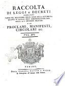 Raccolta di leggi  decreti  proclami  manifesti ec  Pubblicati dalle autorit   costituite  Volume 1   43