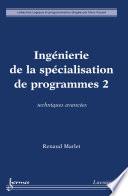 illustration du livre Ingénierie de la spécialisation de programmes