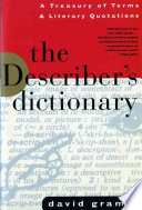 The Describer s Dictionary