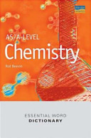 As A Level Chemistry Essential Word Dictionary