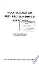 Wolf Ecology And Prey Relationships On Isle Royale