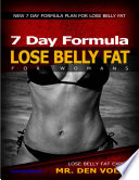 How to Lose Belly Fat for Womans  7 Day Formula