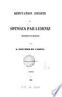 R  futation in  dite de Spinoza  pr  c  d  e d un m  moire par A  Foucher de Careil