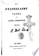 La Stanislaide poema di Lino Corintio arcade