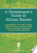 A Genealogist s Guide to African Names