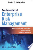 Fundamentals of Enterprise Risk Management Chapter 15  Life Cycle Risk