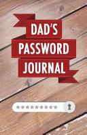 Dad s Password Journal