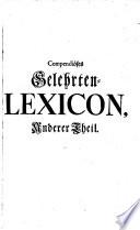 Compendiöses Gelehrten-Lexicon