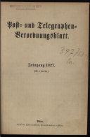 Post  und Telegraphenverordnungsblatt