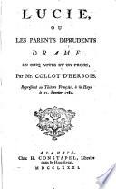 Lucie, ou les parents imprudents