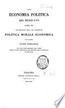 Della economia politica del medio evo
