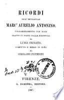 Ricordi dell imperatore Marc Aurelio Antonino