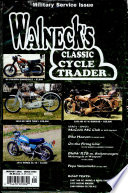 WALNECK'S CLASSIC CYCLE TRADER, JANUARY 2001