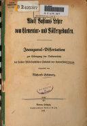 Adolf Bastians Lehre vom Elementar- und Volkergedanken