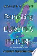 Rethinking Europe S Future
