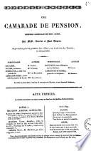 Une camarade de pension comedie-vaudeville en deux actes par MM. Ancelot et Paul Duport