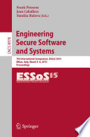 Engineering Secure Software and Systems