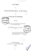 Code de Proc  dure Civile de L   tat de la Louisiane