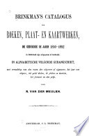Brinkman's catalogus van boeken en tijdschriften