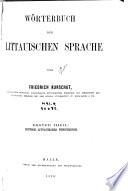 Woerterbuch der Littauischen Sprache