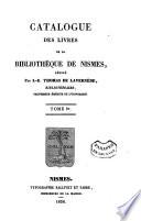 Catalogue des livres de la Biblioth  que de Nismes