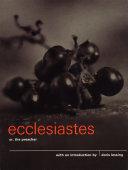 Ecclesiastes or, The Preacher Book
