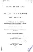 History Of The Reign Of Philip The Second King Of Spain book