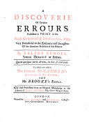 download ebook a discoverie of certaine errours published in print in the much commended britannia, 1594 pdf epub