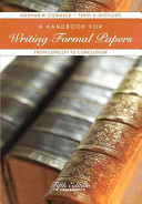 A Handbook for Writing Formal Papers