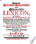 Allgemeines helvetisches, eydgenössisches oder schweitzerisches Lexicon0